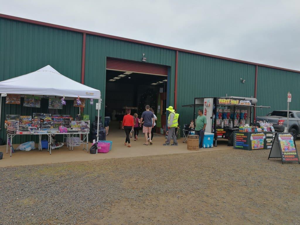 Forest Green market outdoor stalls